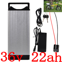36V 1000W Rear Rack eBike Battery 36V 22AH Lithium Battery 36V 20Ah 22Ah 25Ah Electric Bicycle Battery with 2A charger free duty|Electric Bicycle Battery| |  -