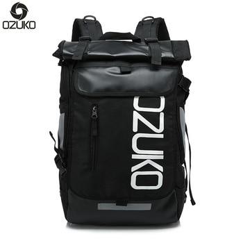 OZUKO Men's Back Pack 15.6 Laptop Backpack Large Capacity Rucksack Waterproof Mochila Travel Bags for Men Fashion Sports Bag