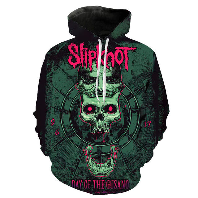 Slipknot 3D Print Hoodies Heavy Metal Rock Band Sweatshirt Men Women Fashion Streetwear Hoodie Hip Hop Pullover Tops Coat Unisex 4