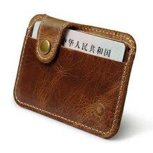 Retro couro de crédito de negócios mini carteira de cartão 2020 conveniente homem mulher inteligente carteira titular do cartão de visita caixa de dinheiro