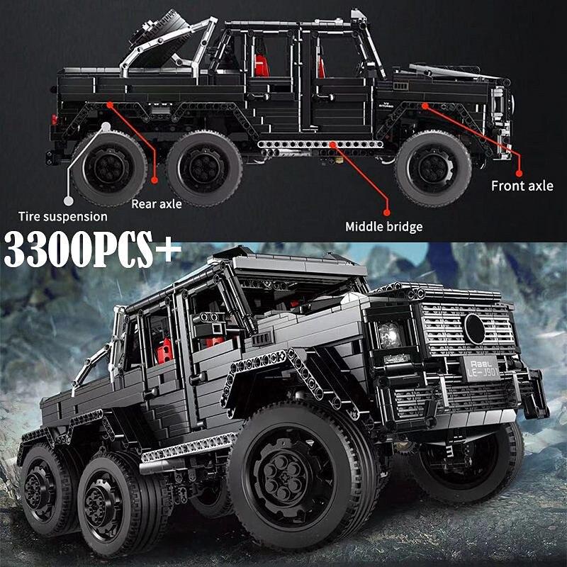 3300 шт. Technic внедорожники MOC G63AMG 6X6 LAND CRUISER набор модельных скоростных внедорожников кирпичи гоночные машины строительные блоки игрушки - 4
