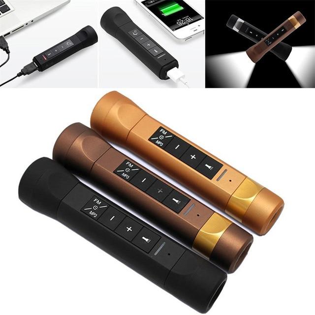 Rowerowy przenośny głośnik Bluetooth Outdoor Sport głośniki latarka w powerbanku głośnik bezprzewodowy Subwoofer Stereo na rower