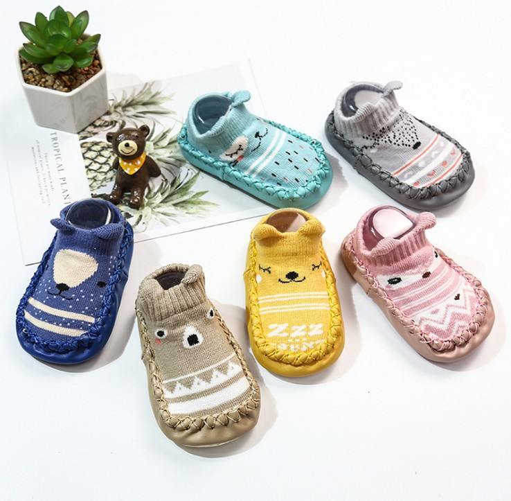 Infant First Walker Leather Baby Boy Socks Shoes Kids  Newborn Toddler Boy Shoes Soft Sole Baby Floor Socks Shoes For Baby Girl | Happy Baby Mama