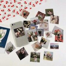 40 pz/borsa Ins Coreano Del Fiore Del Tulipano Sticker NO.2 FAI DA TE Scrapbooking Album Diario Mobile Del Computer Piano di Felice Autoadesivo Della Decorazione
