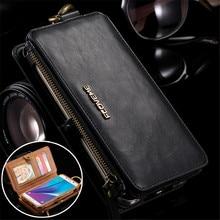 Flip Leather Case Voor Samsung Galaxy S20 Ultea S10 S9 S8 Plus S7 S6 Rand Rits Portemonnee Cover Voor Samsung note 20 10 9 8 5 Coque
