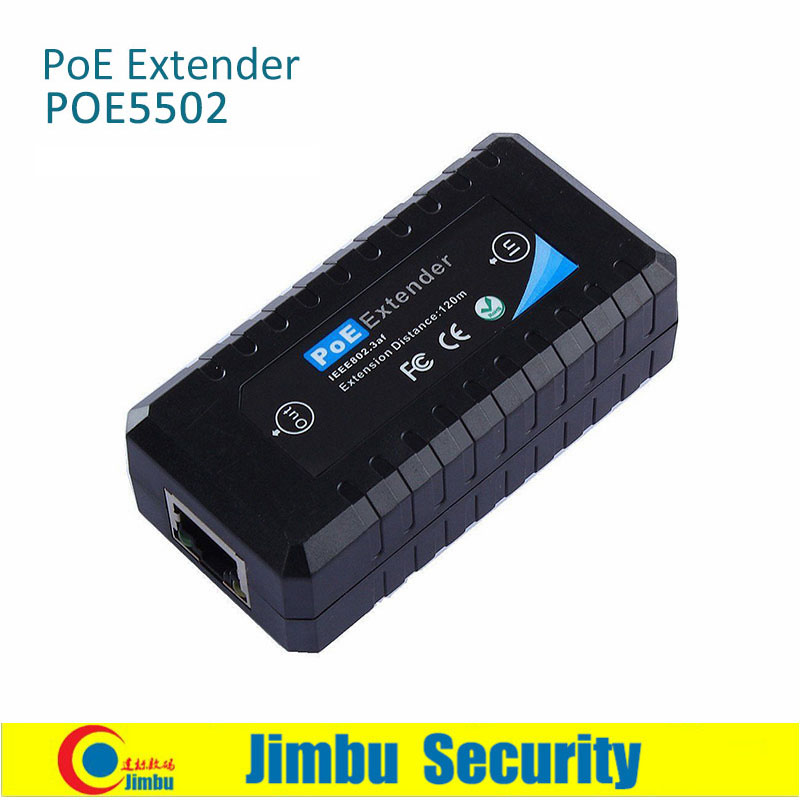 1-Port PoE Extender POE5502 Has 2 Of 10/100M Lan Ports  Extending Distance 120m Comply With 10/100BASE-TX,IEEE 802.3 Af-PoE