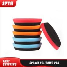 SPTA compuesto almohadillas de pulido de 5 pulgadas pulidor pulido de Pad Set DA/RO/doble acción coche lijadora pulidora seleccionar el Color