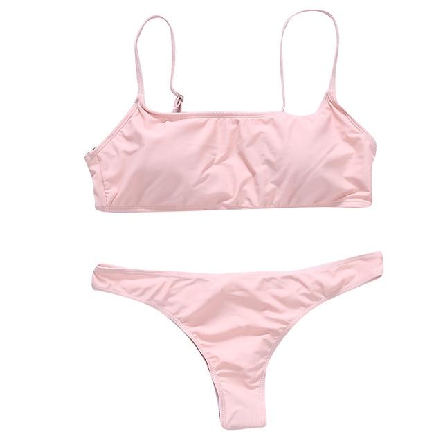 2021 New Sexy Push Up Unpadded Brazilian Bikini Set Women Vintage Swimwear Swimsuit Beach Suit Biquini bathing suits 6