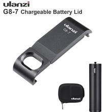 Ulanzi G8 7 GoPro HERO 8 แบตเตอรี่แบบถอดได้ Type C ชาร์จพอร์ตอะแดปเตอร์สำหรับ GoPro HERO สีดำ 8 ป้องกัน accessorries