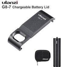 Чехол для аккумулятора Ulanzi, съемный адаптер для порта зарядки типа с для Gopro Hero 8, черный защитный аксессуар для Gopro Hero 8
