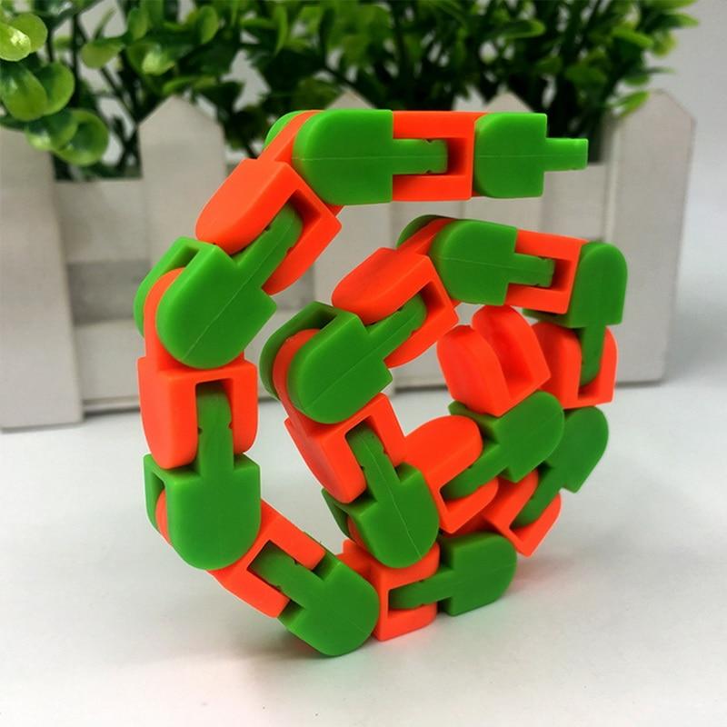 Toy Bracelet Chain Fidget-Toys Spinner Snake Anti-Stress Adult Children for Kids Puzzle img5