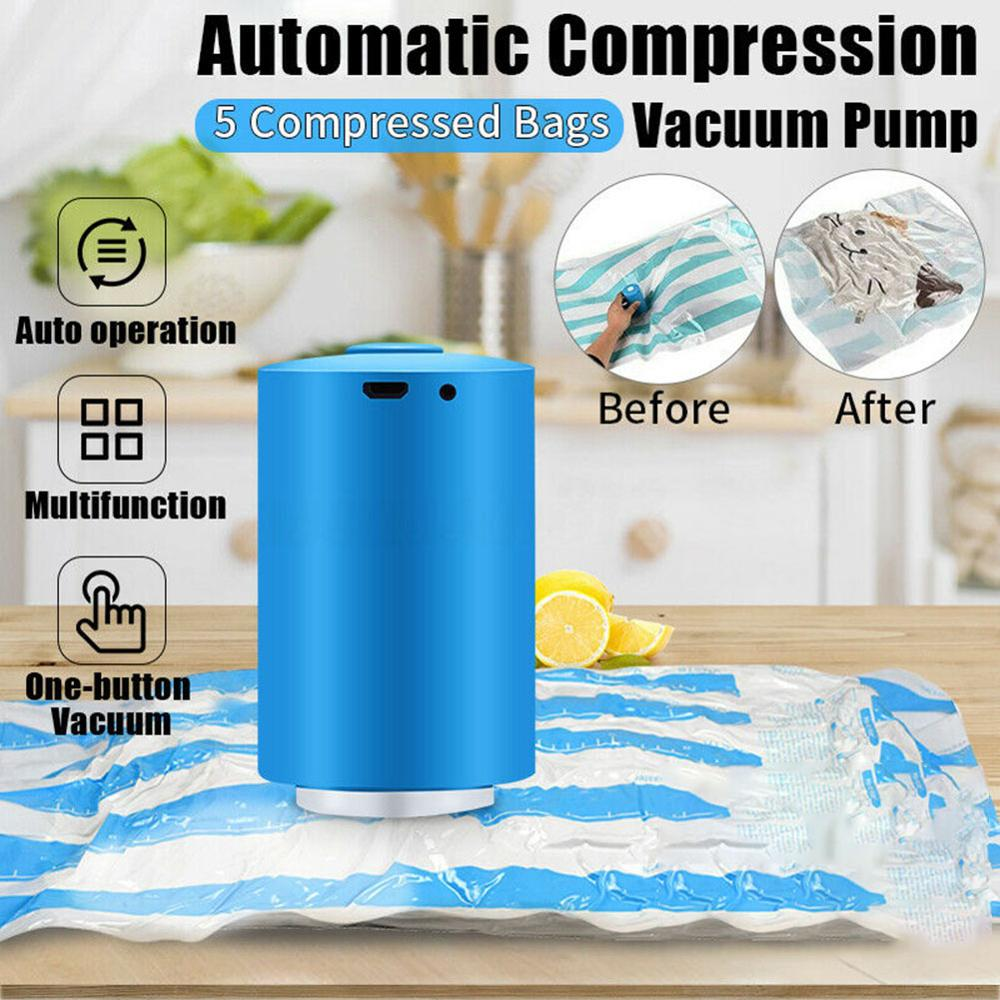 Kitchen Accessories Mini Automatic Compression Electric Vacuum Pump Food Clothes Sealing Machine Kitchen Gadgets Vacuum Pump USB