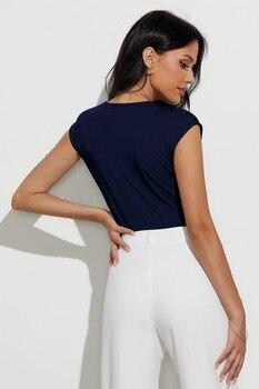 Sexy Body Suits for Women Plunge Neck Solid Bodysuit Women Summer Black Deep V Neck Sleeveless Skinny Bodysuit 5