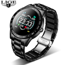 LIGE 2020 new smart watch men women stainless sport for iPhone heart rate Mode Fitness tracker smartwatch reloj inteligente Man
