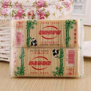 250PCS / Bag Bamboo Toothpick Disposable Natural Toothpicks Fruit Single Sharp Tooth Sticks Family Restaurant Care Tool