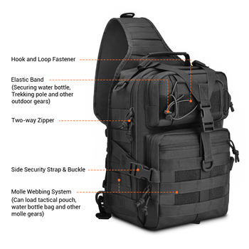Us Army Rucksack | 20L Tactical Assault Pack Military Sling Backpack Army Molle Waterproof EDC Rucksack Bag For Outdoor Hiking Camping Hunting