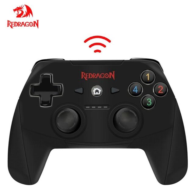 Redragon HARROW G808 Wireless Gamepad, PC Game Controller mit 10 Tasten, Harrow, für Windows PC,PS3, Playstation,Android,Xbox 360