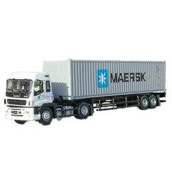 1/50 múltiples tipos de aleación Isuzu remolque caballo Maersk contenedor metal fundición a presión camión modelo juguete regalo niños colección exhibición