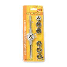 8 шт. метрический регулируемый кран штамповочный ключ набор M3-M12 резьбовой конус ручной инструмент