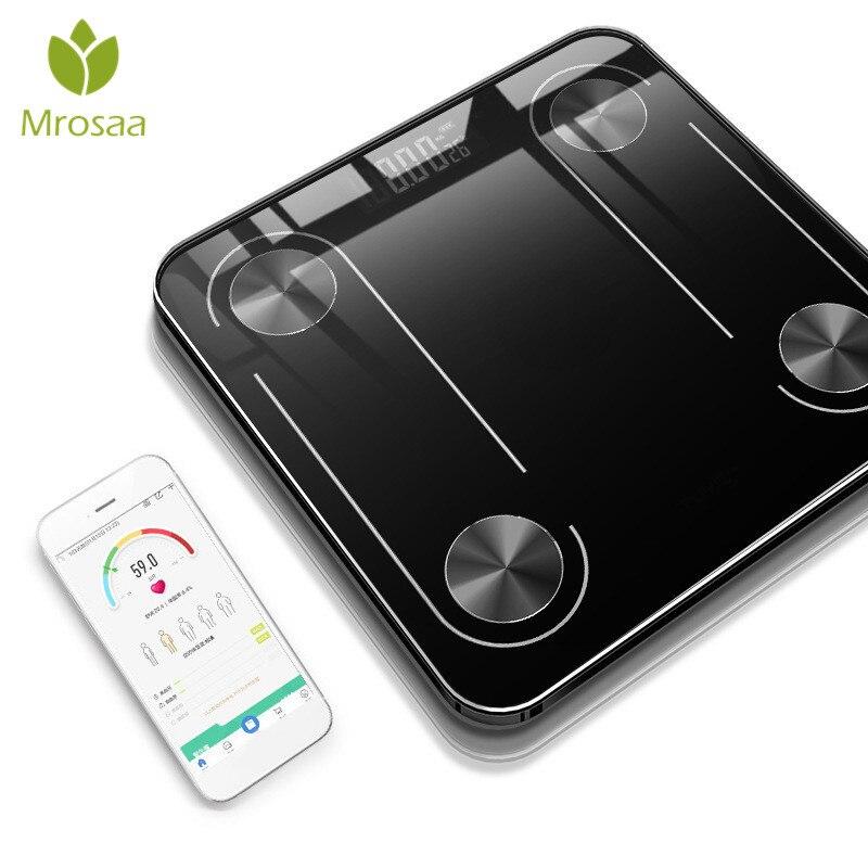 Escala de banheiro de Gordura Corporal Chão Científica Backlit Digital Balanças de Peso Corporal Eletrônico Inteligente para-Bluetooth APP Android ou IOS