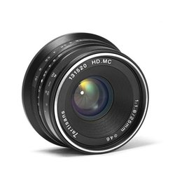 Portable 25mm F/1.825-1.8 E-Mount Prime Lens Manual Focus Lens Durable Camera Accessories For Sony/Canon/Fuji/M43 Camera
