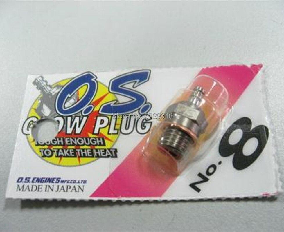 1Pcs/lot 100% Original OS8 NO.8 O.S. OS8# Medium Plug N Glow Plugs For Nitro Engine Free Shipping