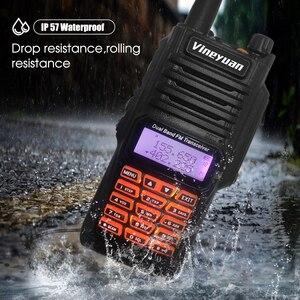 Image 4 - Baofeng Walkie Talkie UV 9R Plus, resistente al agua, 8W, UHF, VHF, banda Dual, 136 174/400 520MHz, Ham CB, Radio FM, escáner transceptor