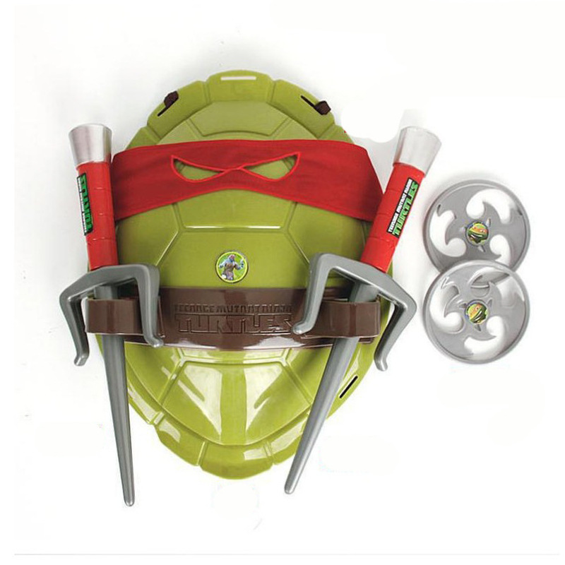 Fun Anime Movie Cartoon Ninja Toys Turtles Armor Weapons Leo Raph Mikey DonFigure Cosplay Shell Props