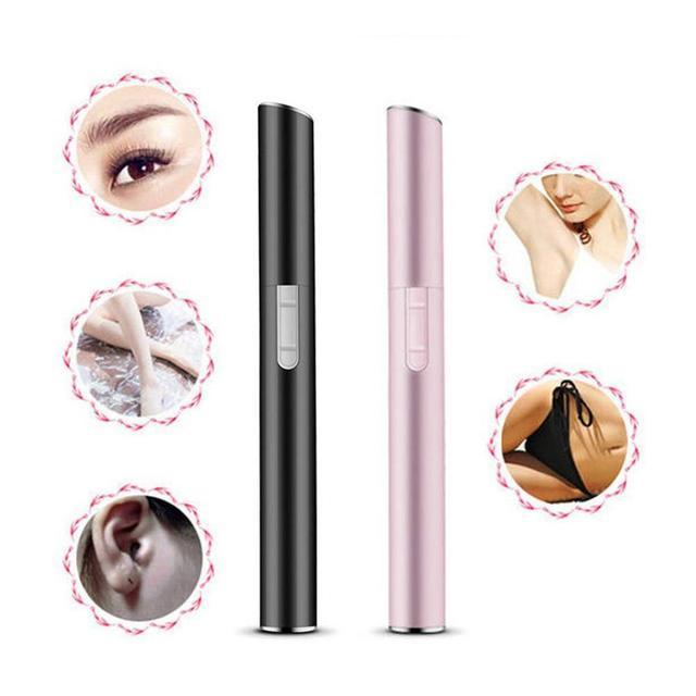 Pink Color Practical Electric Face Eyebrow Scissors Hair Trimmer Mini Portable Women Body Shaver Remover Blade Razor Epilator
