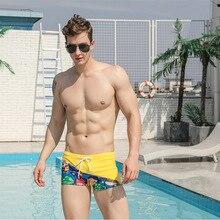Swimsuit Men's Briefs Bikini Boxer-Shorts Swim-Wear Summer Male Surfing Low-Waist Sexy