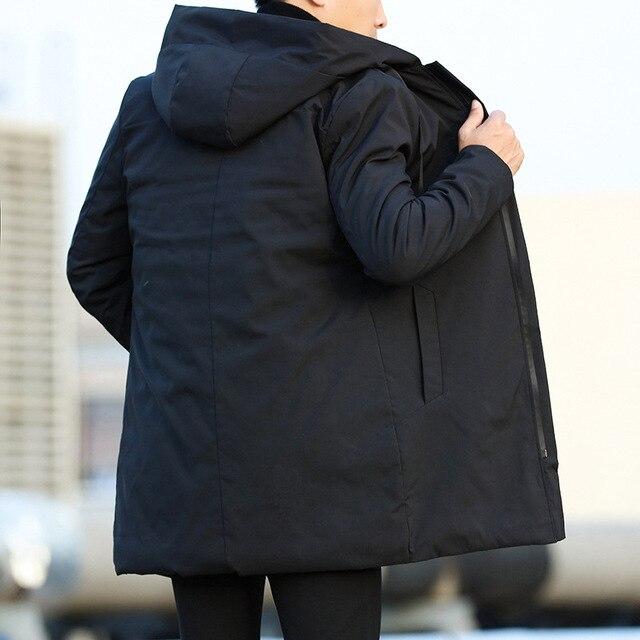 Men Jackets Autumn Winter Men's Trench Coat Men Casual Thicken Warm Hooded Jacket Male Windbreaker Outerwear Jaquet Man coat 6XL 2