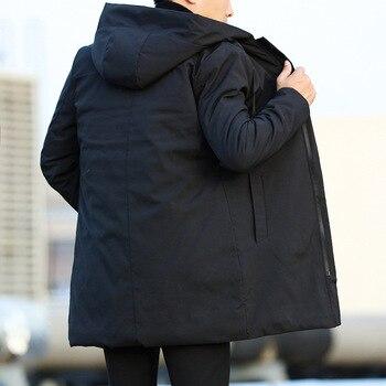 Men Jackets Autumn Winter Men's Trench Coat Men Casual Thicken Warm Hooded Jacket Male Windbreaker Outerwear Jaquet Man coat 6XL