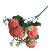 1 buquê artificial falso crisântemo flor planta de escritório em casa decoração festa flores de seda falso para decoração diy