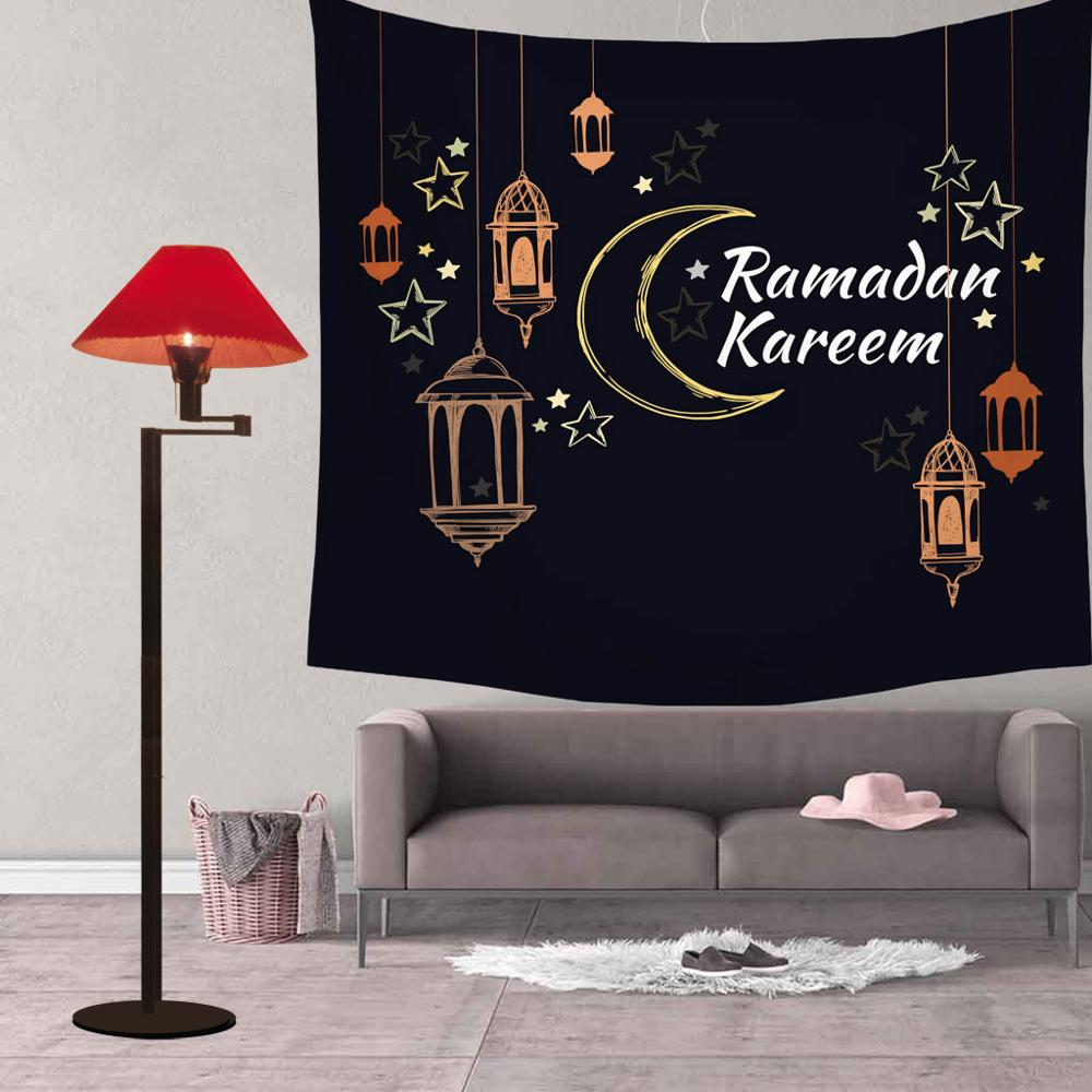 Amawill Eid Mubarak Decoration Tapestries Muslim Ramadan Decor Tablecloth Ramadan Mubarak Party Supplies Eid Mubarak 65D
