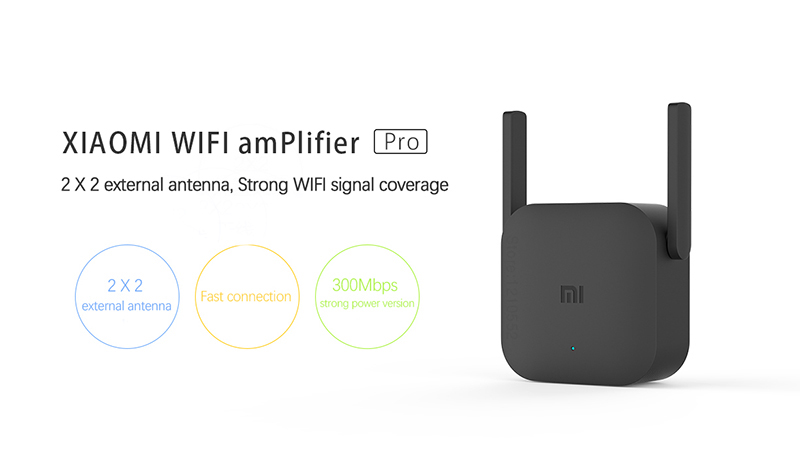 Xiaomi WiFi router Amplifier Pro 300M Network Expander Repeater Signal overlay Wireless Range Extender 2 external antennas