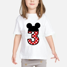 Girls Number 1-9 Birthday T shirt Baby Boys/Girls Happy Birthday Letter Cute Print Clothes New Summer Cartoon T shirt Present boysgirls happy birthday letter number 1 9 birthday present cartoon t shirt kids funny clothes children summer baby t shirt