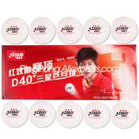 20 bolas dhs 3 estrelas d40 + (ding ning) bolas de tênis de mesa novo material plástico poli original dhs ping pong bolas