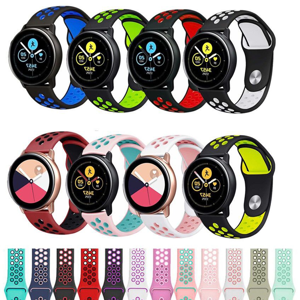 For Samsung Galaxy Watch 46mm Gear S3 Frontier Active 2 40mm 44mm Silicone Band 20 22mm Replacement Strap Amazfit Bip Huawei GT