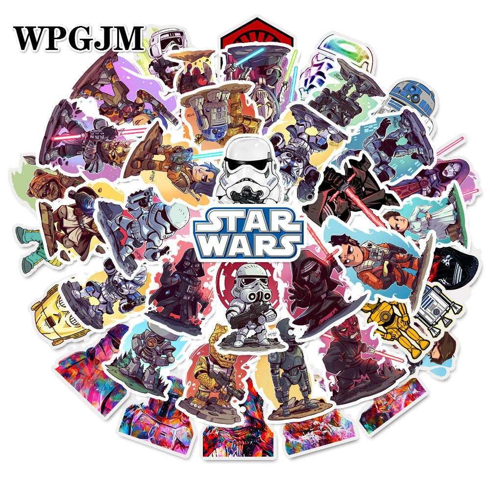50pcs/pack Star Wars Stickers for Kids Computer PS4 on Laptop TV Fridge Bicycle Waterproof Decal Anime Sticker