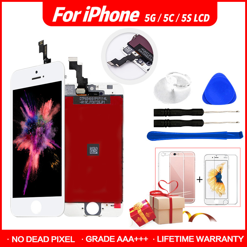 Premium <font><b>Original</b></font> LCD Für <font><b>iPhone</b></font> 5s Bildschirm Ersatz LCD <font><b>Display</b></font> Digitizer Frame Assembly Für <font><b>iPhone</b></font> <font><b>5</b></font> 5s 5c <font><b>5</b></font> ecran image