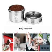 Reusable Coffee Capsules Stainless Steel Refillable Coffee Pods Filter For Coffee Machine