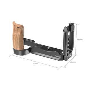 Image 3 - SmallRig L Bracket Plate With Wooden Handle for Sony A6400/A6300/A6100 Arca Swiss Standard L Plate Mounting Plate   2331