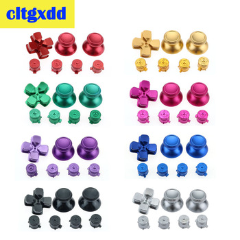 1Set Metal 3D Analog Thumb Stick Joystick Grip Caps + D-pad Action Buttons For Sony Playstation Dualshock 4 PS4 Gamepad Controll