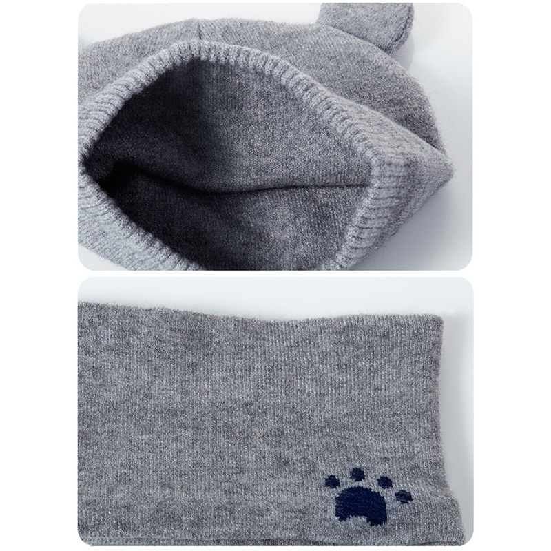 Hot Baby Winter Caps Scarf Suits Warm Knitted Beanie Cap Cute Cartoon Bear Beanie IE998