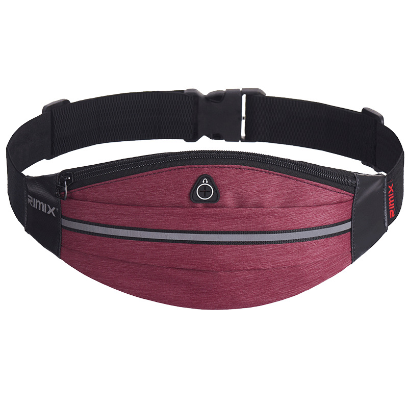 Ellipse Sports Waist Pack Outdoor Portable Storage Mobile Phone Bag Reflective Music Pack Multi-functional Mountain Climbing Tra
