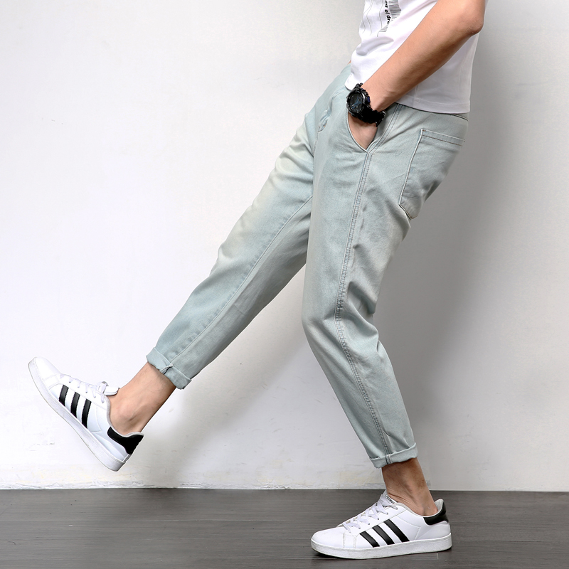 Mens Jeans Loose Casual Joggers Plus Size Hip Hop Harem Denim Pants Solid Blue  Quality Trousers Blue Jeans Male Clothes