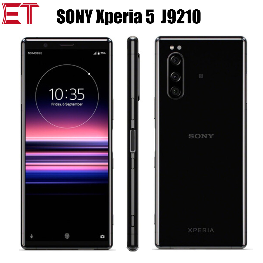 New Original Sony Xperia 5 J9210 Mobile Phone 6GB 128GB Snapdragon855 OctaCore 6.1