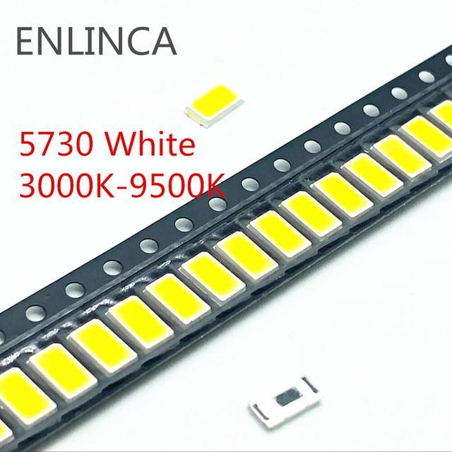 Big Sale SMD LED 2835 5730 Chips 1W 3V 6V 9V 18V beads light White warm 0.5W 1W 130LM Surface Mount Light Emitting Diode Lamp 2
