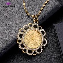 Pendentifs en cristal musulman pour femmes et hommes en Rabian, bijoux de couleur or à deux tons, cadeau pour lafrique du moyen orient