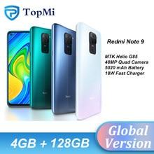 Versão global xiaomi redmi nota 9 4gb 128gb 3gb 64gb smartphone helio g85 octa núcleo 48mp câmera traseira 5020mah 6.53